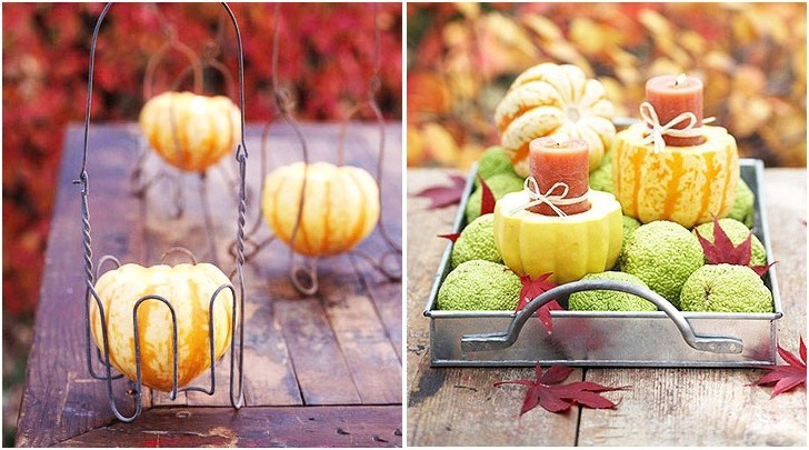 Making pumpkin candlesticks with your own hands