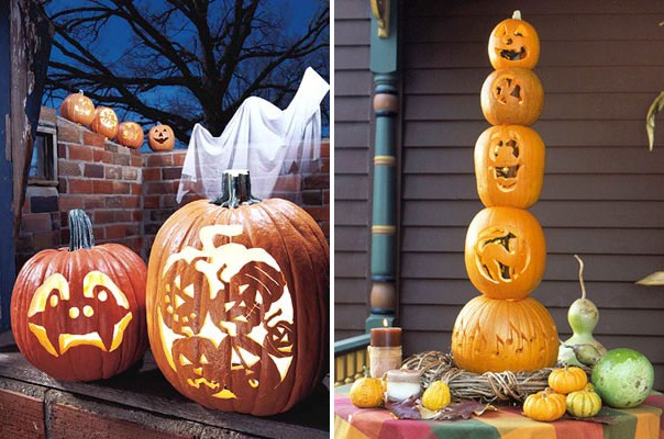 How to make pumpkin lanterns and decorate the garden