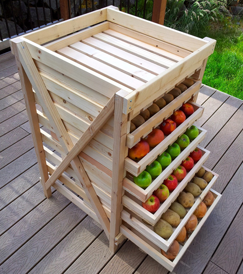 Convenient storage of fruits and vegetables