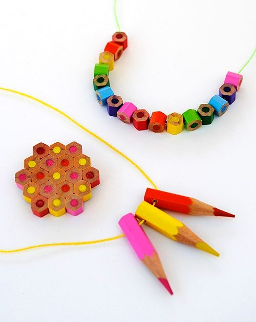 Pencil jewelry by one's own hands