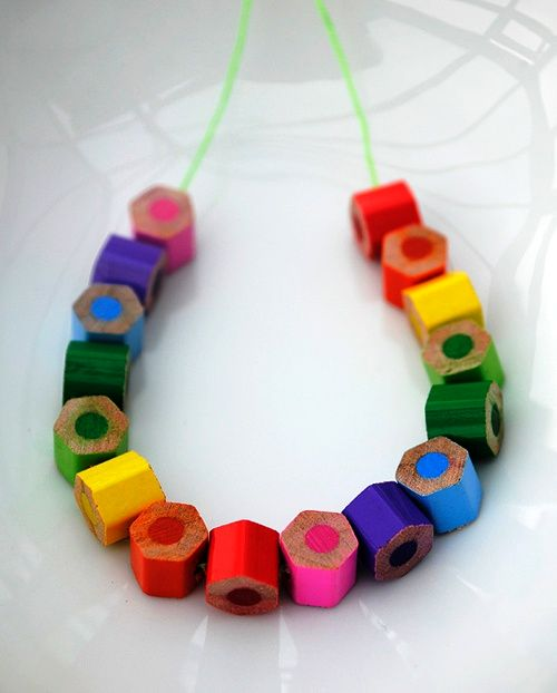 Beads from pencils own hands