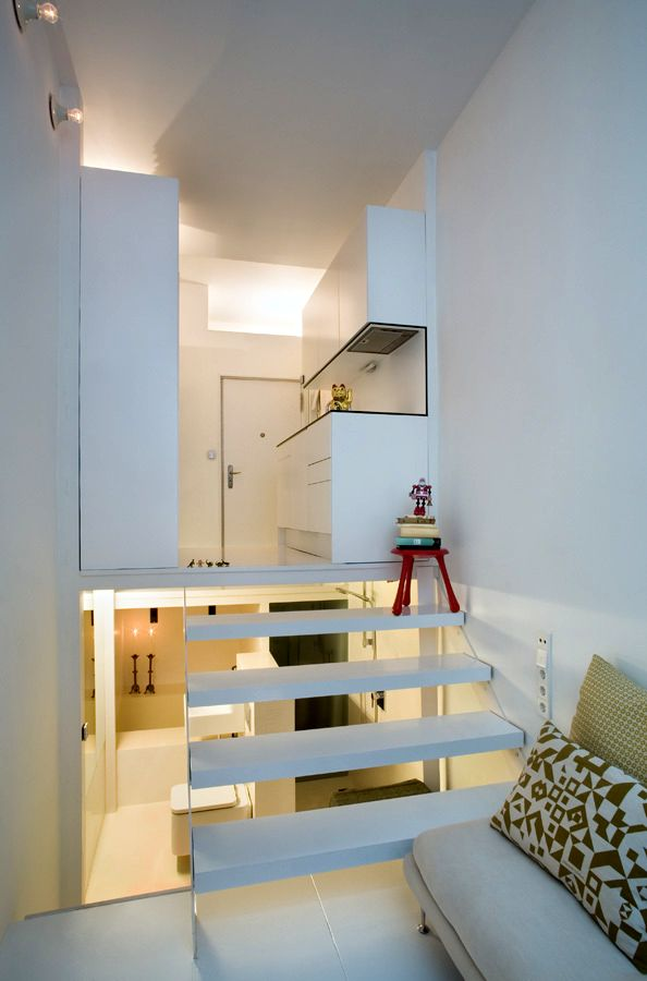 interior of a small apartment of 20 sq m