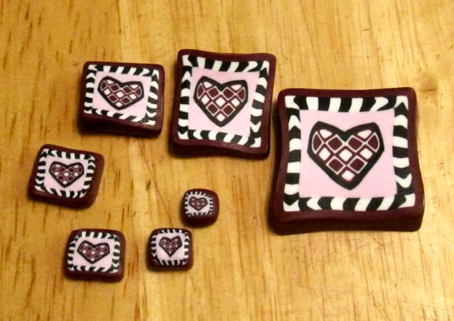 decorating gifts from polymer clay on February 14
