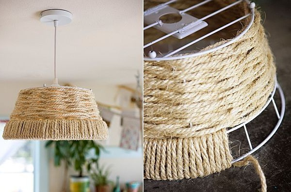Cords and ropes in the interior decor - photo