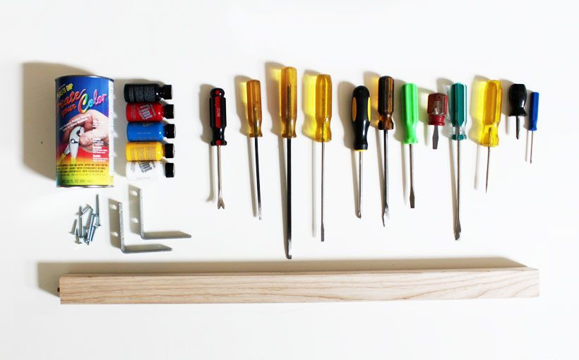 screwdriver hanger - materials