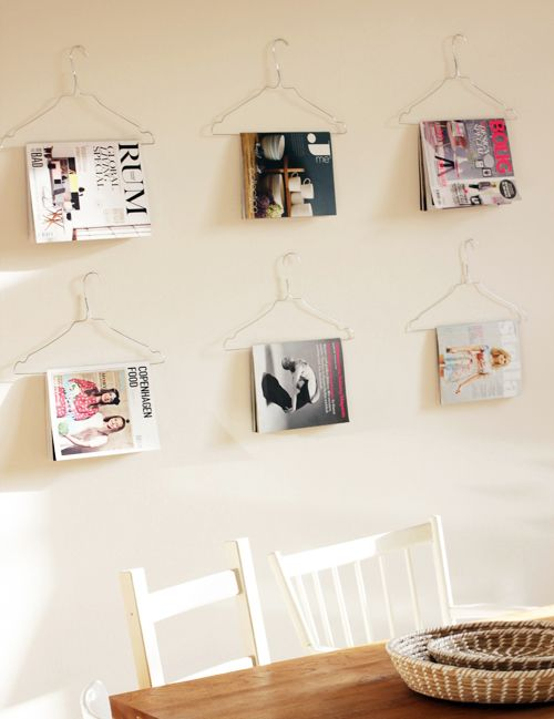 wire hanger for books and magazines