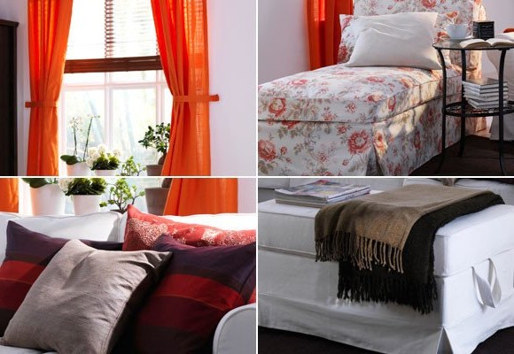 Covers for furniture, curtains and pillows - we change the house by spring