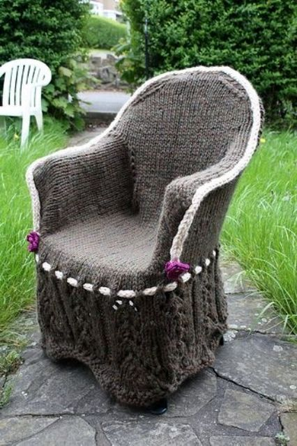 knitted covers for armchairs