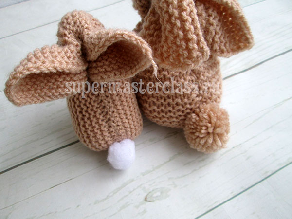 How to knit a toy hare knitting