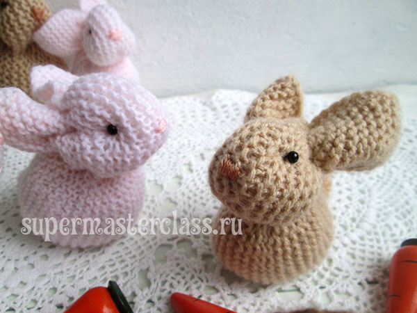 Knitted hare knitting needles: diagrams and description