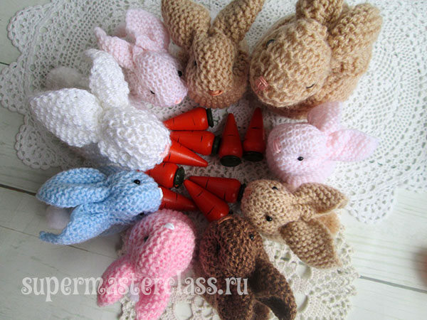 Knit a hare with needles