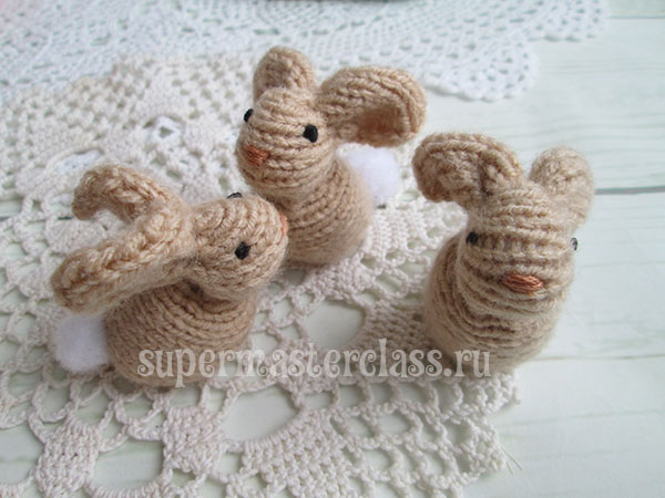 Hares knitting with description