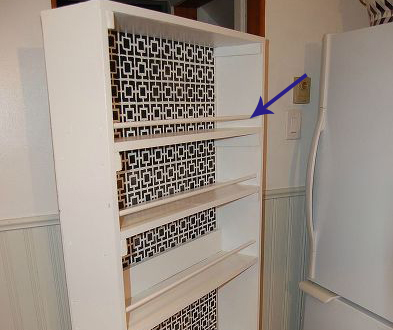 Extendable cabinet for kitchen