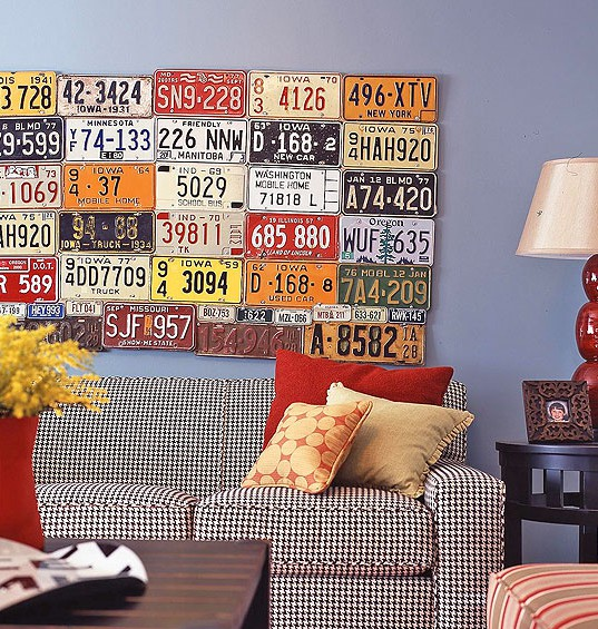 License plates, decoration by one's own hands