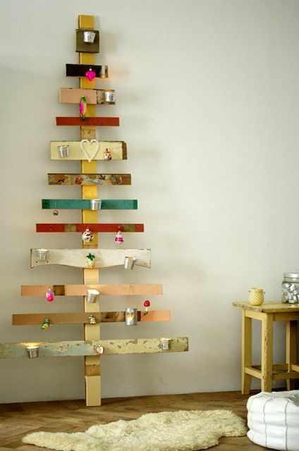 alternative Christmas trees from laths