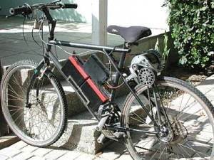 Self-propelled bicycle.