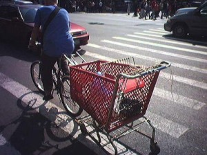 Trolley for a bicycle.