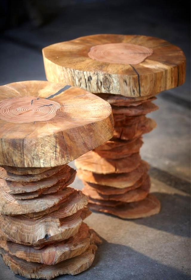 wooden stools from woodnwonder from Bente Hovendal