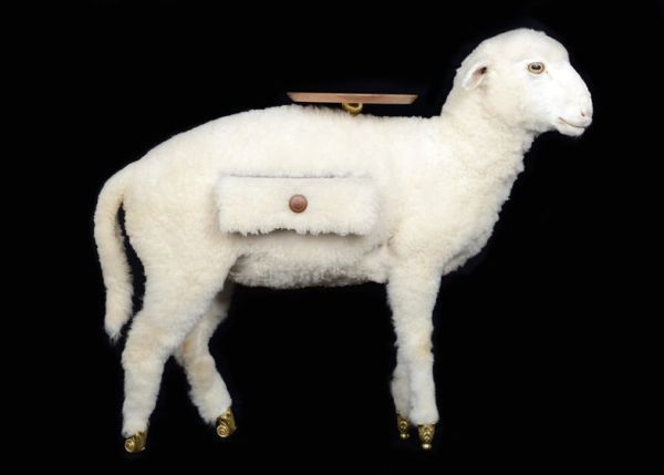 Original table in the form of a sheep