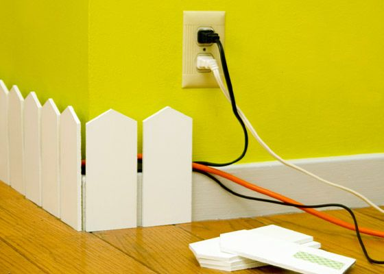 plinth fence - a way how to hide wires in an apartment
