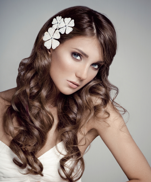 Wedding hairstyles for long hair. Photo number 15