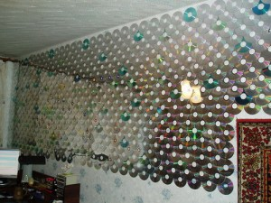 Curtain from CDs.