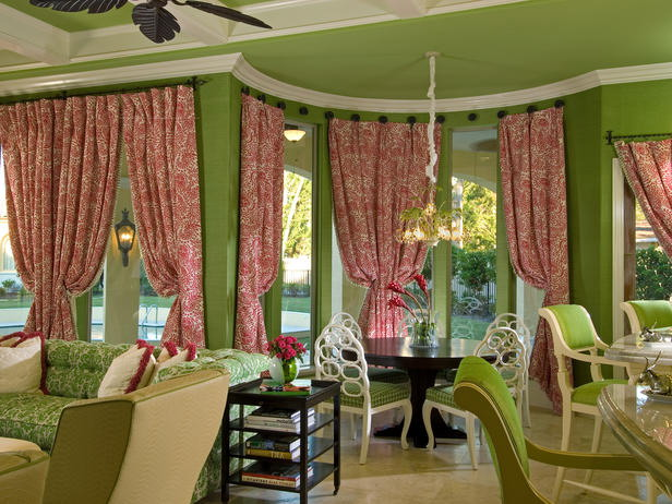Chic green interior