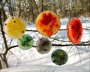 winter games and fun. winter handmade articles for children